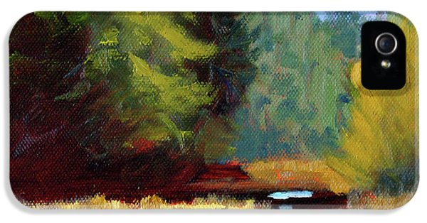 IPhone 5 Case featuring the painting Afternoon On The River by Nancy Merkle