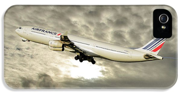 French iPhone 5 Case - Air France Airbus A340-313 115 by Smart Aviation