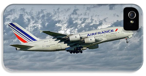 French iPhone 5 Case - Air France Airbus A380-861 113 by Smart Aviation