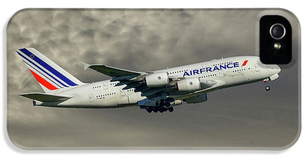 French iPhone 5 Case - Air France Airbus A380-861 116 by Smart Aviation