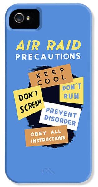 Air Raid Precautions - Ww2 IPhone 5 Case