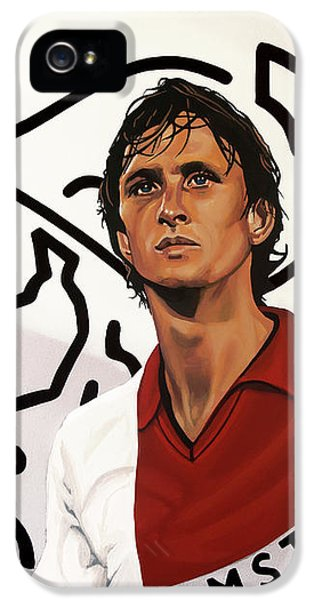 Ajax Amsterdam Painting IPhone 5 Case by Paul Meijering