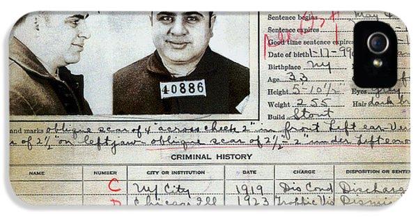 Al Capone Mugshot And Criminal History IPhone 5 Case