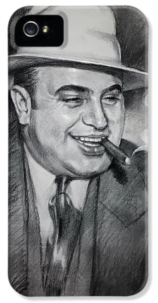 Al Capone  IPhone 5 Case by Ylli Haruni