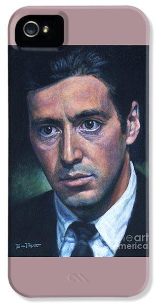 Al Pacino - Godfather 2 IPhone 5 Case by Bill Pruitt