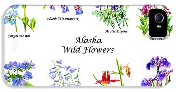 Alaska Wild Flowers Poster Horizontal IPhone 5 Case by Sharon Freeman