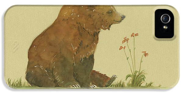 Alaskan Grizzly Bear IPhone 5 / 5s Case by Juan Bosco