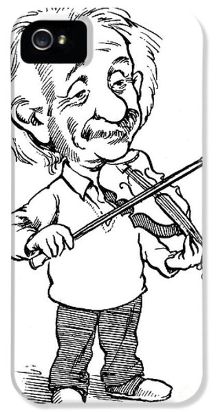 Violin iPhone 5 Case - Albert Einstein (1879-1955) by Granger