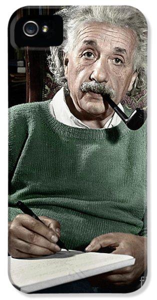 Portraits iPhone 5 Case - Albert Einstein by Granger
