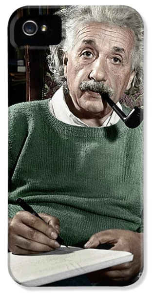 Portraits iPhone 5 Case - Albert Einstein by Granger