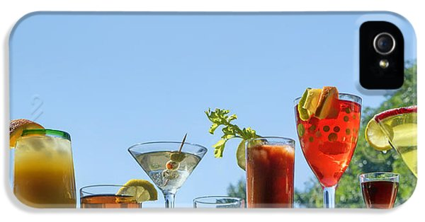 Alcoholic Beverages - Outdoor Bar IPhone 5 Case by Nikolyn McDonald