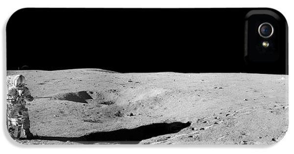 Aldrin At Work IPhone 5 Case by Jon Neidert