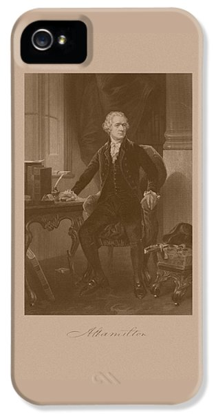 Alexander Hamilton Sitting At His Desk IPhone 5 Case by War Is Hell Store