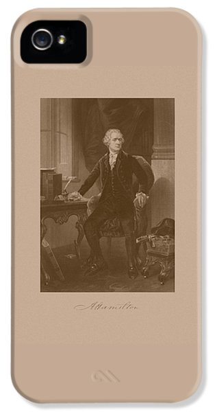 Alexander Hamilton Sitting At His Desk IPhone 5 Case
