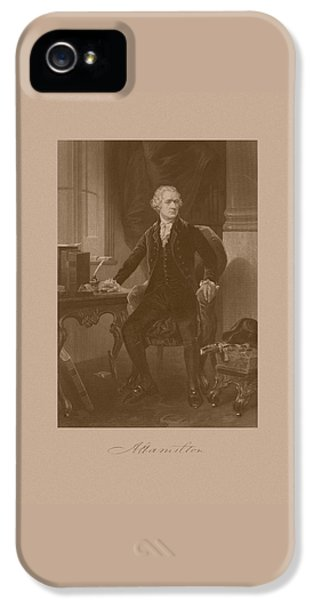 Declaration iPhone 5 Cases - Alexander Hamilton Sitting At His Desk iPhone 5 Case by War Is Hell Store