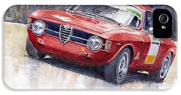 Alfa Romeo iPhone 5 Cases - Alfa Romeo Giulie Sprint GT 1966 iPhone 5 Case by Yuriy  Shevchuk