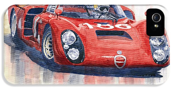 Alfa Romeo Tipo 33 2 Targa Floria 1968 IPhone 5 Case by Yuriy  Shevchuk
