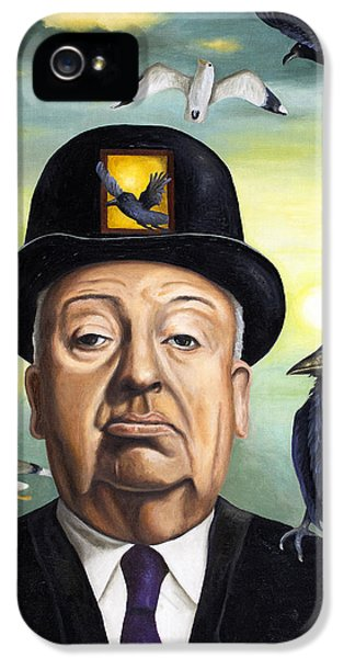 Alfred Hitchcock IPhone 5 / 5s Case by Leah Saulnier The Painting Maniac