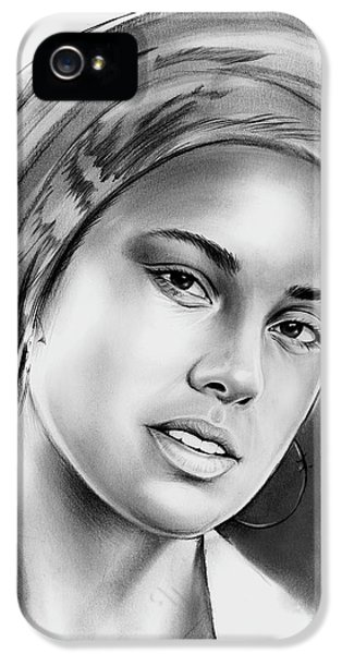 Rhythm And Blues iPhone 5 Case - Alicia Keys 2 by Greg Joens
