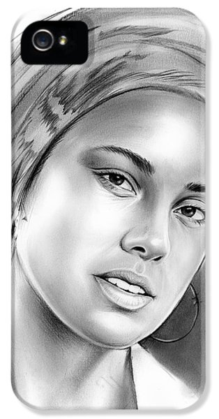 Rhythm And Blues iPhone 5 Case - Alicia Keys by Greg Joens