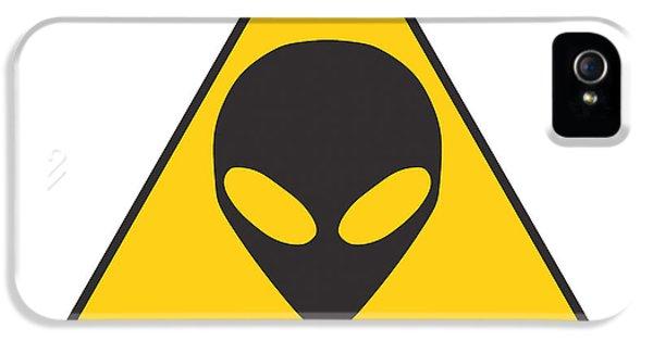 Alien Grey Graphic IPhone 5 Case by Pixel Chimp