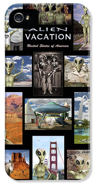 Alien Vacation - Poster IPhone 5 Case