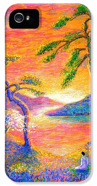 Buddha Meditation, All Things Bright And Beautiful IPhone 5 Case by Jane Small
