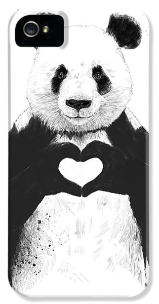 Day iPhone 5 Case - All You Need Is Love by Balazs Solti