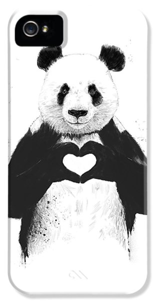 Animals iPhone 5 Case - All You Need Is Love by Balazs Solti