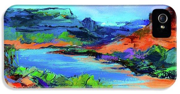 Along Colorado River - Utah IPhone 5 Case by Elise Palmigiani