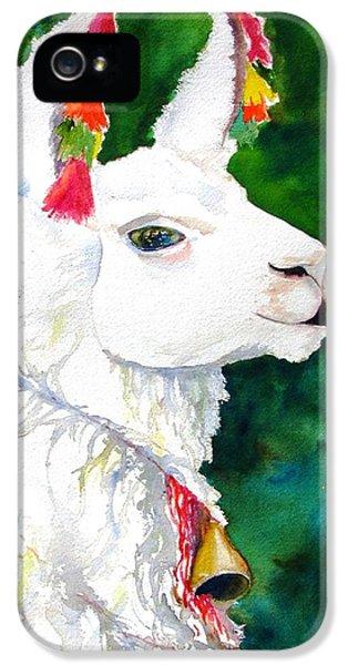Llama iPhone 5 Case - Alpaca With Attitude by Carlin Blahnik CarlinArtWatercolor