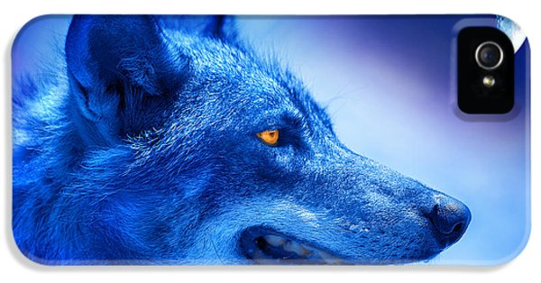 Alpha Wolf IPhone 5 Case by Mal Bray