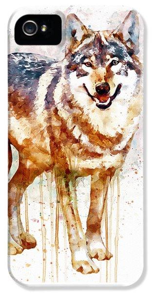 Alpha Wolf IPhone 5 Case by Marian Voicu