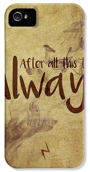 Wizard iPhone 5 Case - Always by Samuel Whitton