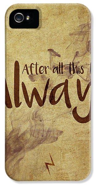 Wizard iPhone 5 Case - Always by Samuel Whitton