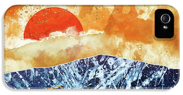 Landscape iPhone 5 Case - Amber Dusk by Katherine Smit