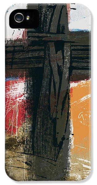 Cross iPhone 5 Case - Amen Contemporary Cross- Art By Linda Woods by Linda Woods
