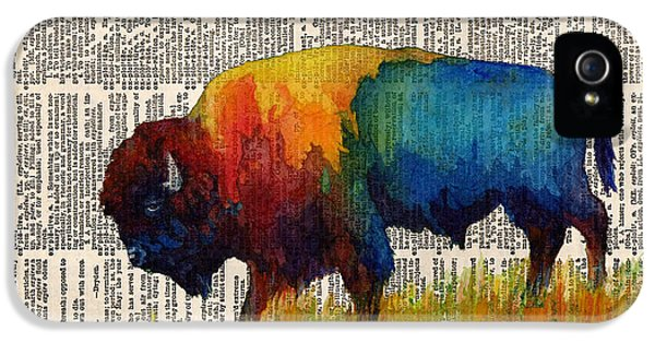 American Buffalo IIi On Vintage Dictionary IPhone 5 Case by Hailey E Herrera