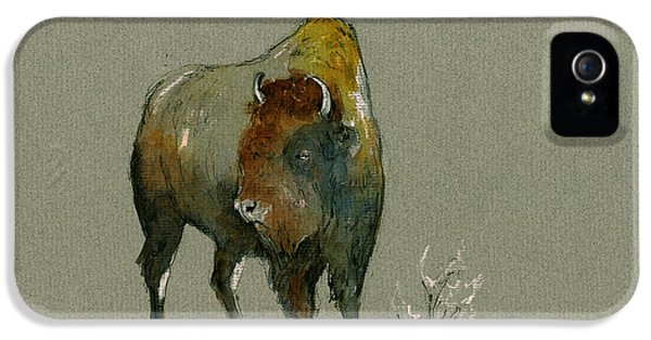 Bison iPhone 5 Case - American Buffalo by Juan  Bosco