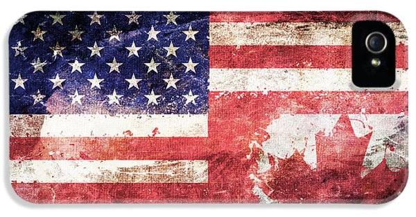 American Canadian Tattered Flag IPhone 5 Case by Az Jackson
