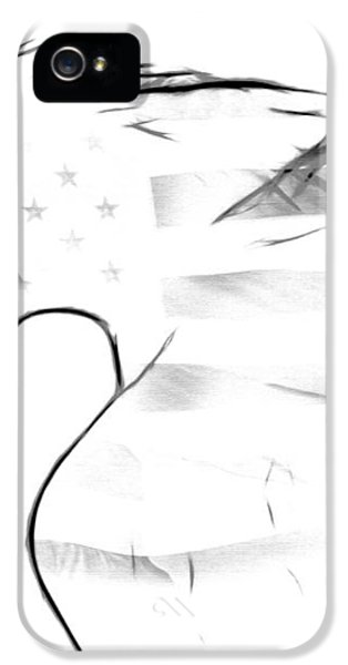 American Eagle Black And White IPhone 5 Case by Melanie Viola