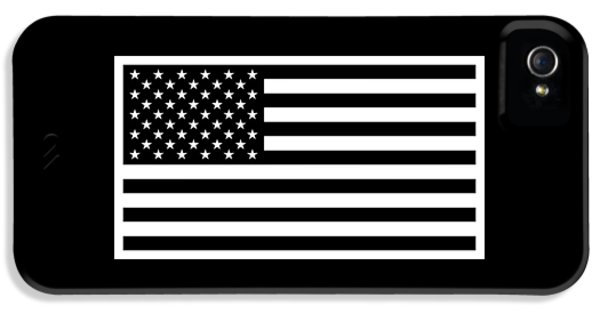 American Flag - Black And White Version IPhone 5 Case by War Is Hell Store