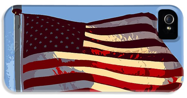 American Flag IPhone 5 Case by David Lee Thompson