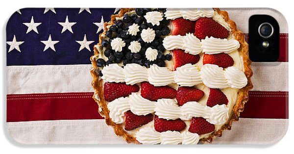 American Pie On American Flag  IPhone 5 Case by Garry Gay