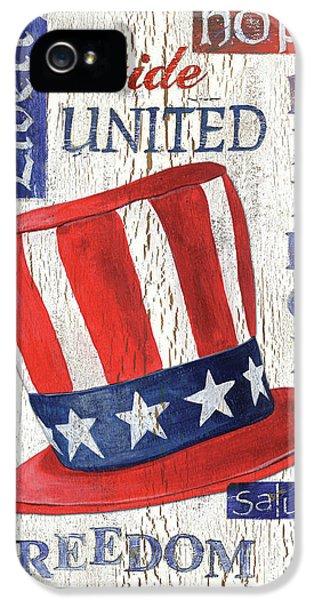 Americana Patriotic IPhone 5 Case by Debbie DeWitt