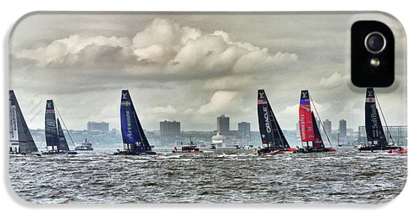 America's Cup Contestants In New York Harbor, May 2016 IPhone 5 Case