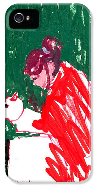 Amy Bathing Maddie IPhone 5 Case by Candace Lovely