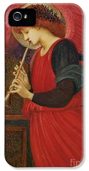 Trumpet iPhone 5 Case - An Angel Playing A Flageolet by Sir Edward Burne-Jones