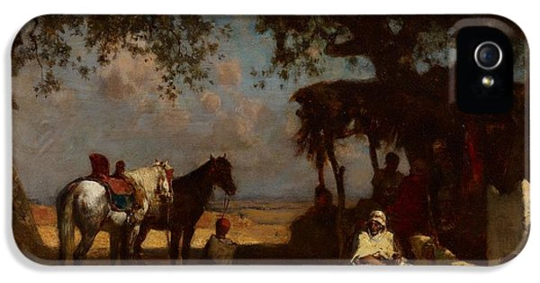 An Arab Encampment IPhone 5 Case by Gustave Guillaumet