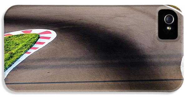 An Empty Bend On A Race Car Circuit IPhone 5 Case by Alexandre Rotenberg